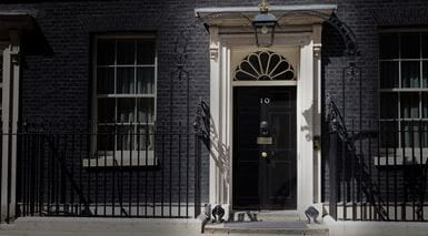 Front door of 10 Downing St, London (Tearfund, 2013)
