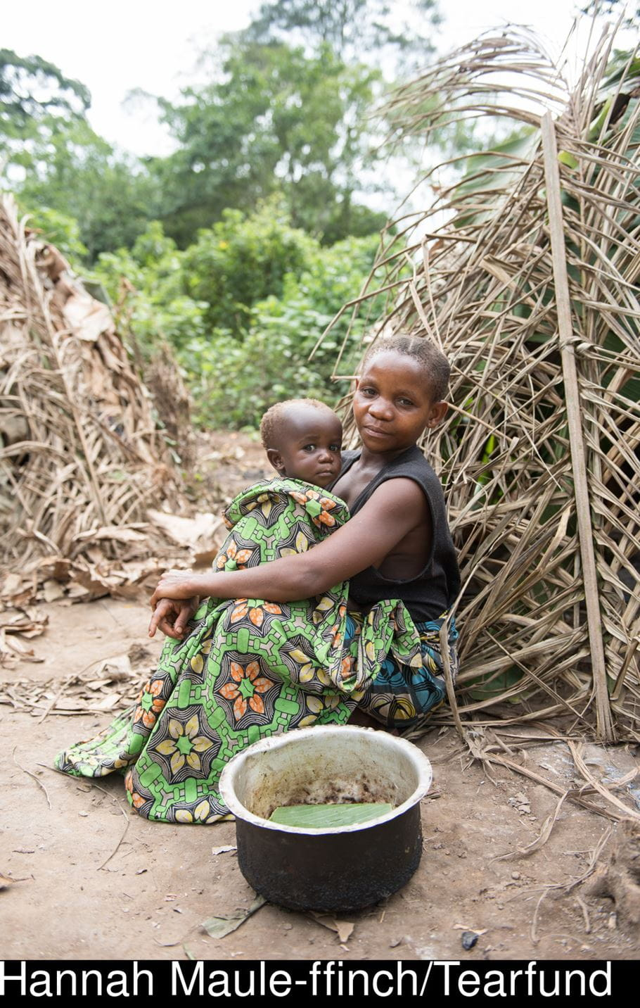 Matunda from DRC with one of her children