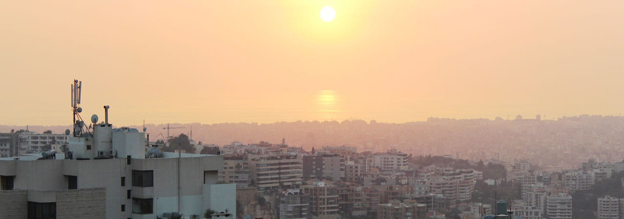 Sunset over Beirut