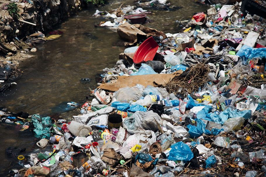 Tonnes of waste get dumped in the streets or rivers in Haiti's urban communities. Credit: Ruth Towell/Tearfund