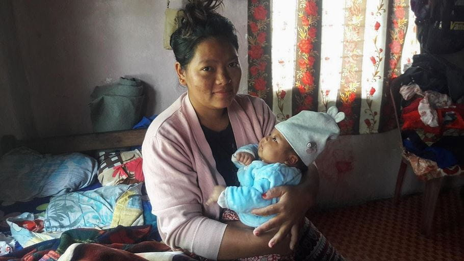 Kabita gave birth to her daughter a few weeks before a national lockdown in Nepal.