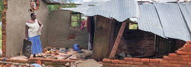 Cyclone Idai house destroyed