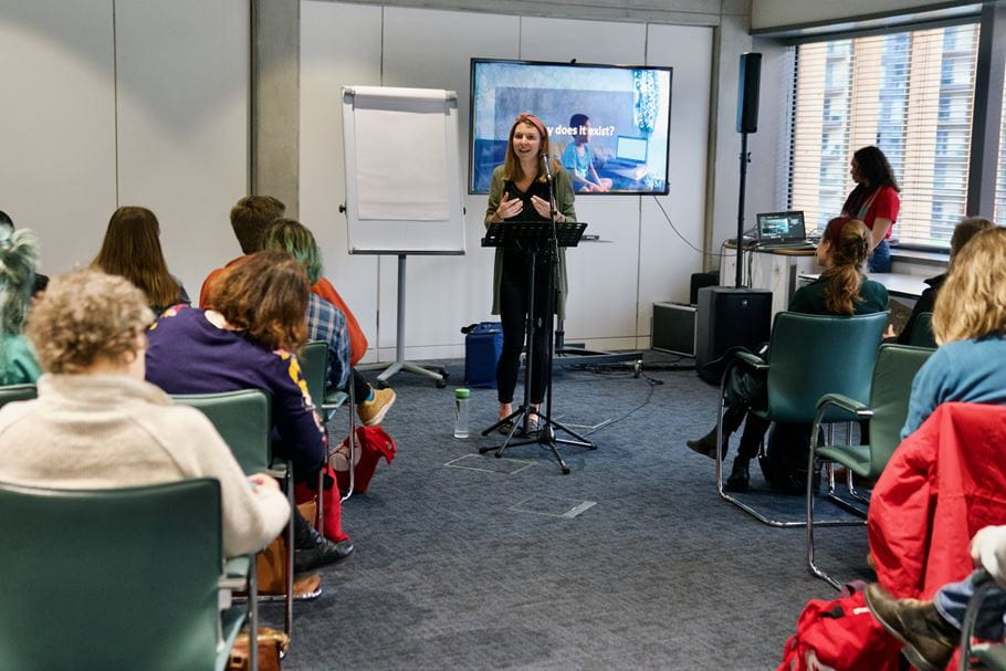 Esther Swaffield-Bray, IJM, leading a breakout session at The Justice Conference UK 2020. The Drum, Wembley. Friday 22nd February 2020. Marc Gilgen/The Justice Conference.