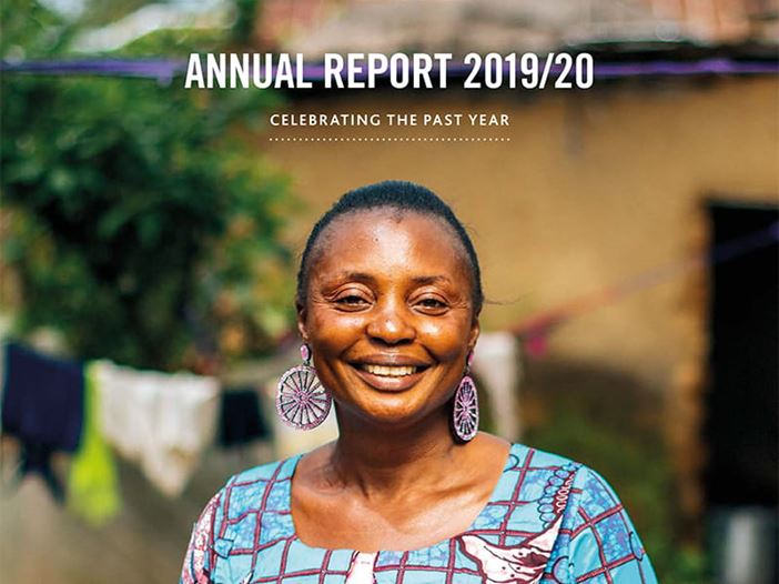 Cover of Tearfund's 2019/2020 Annual Report