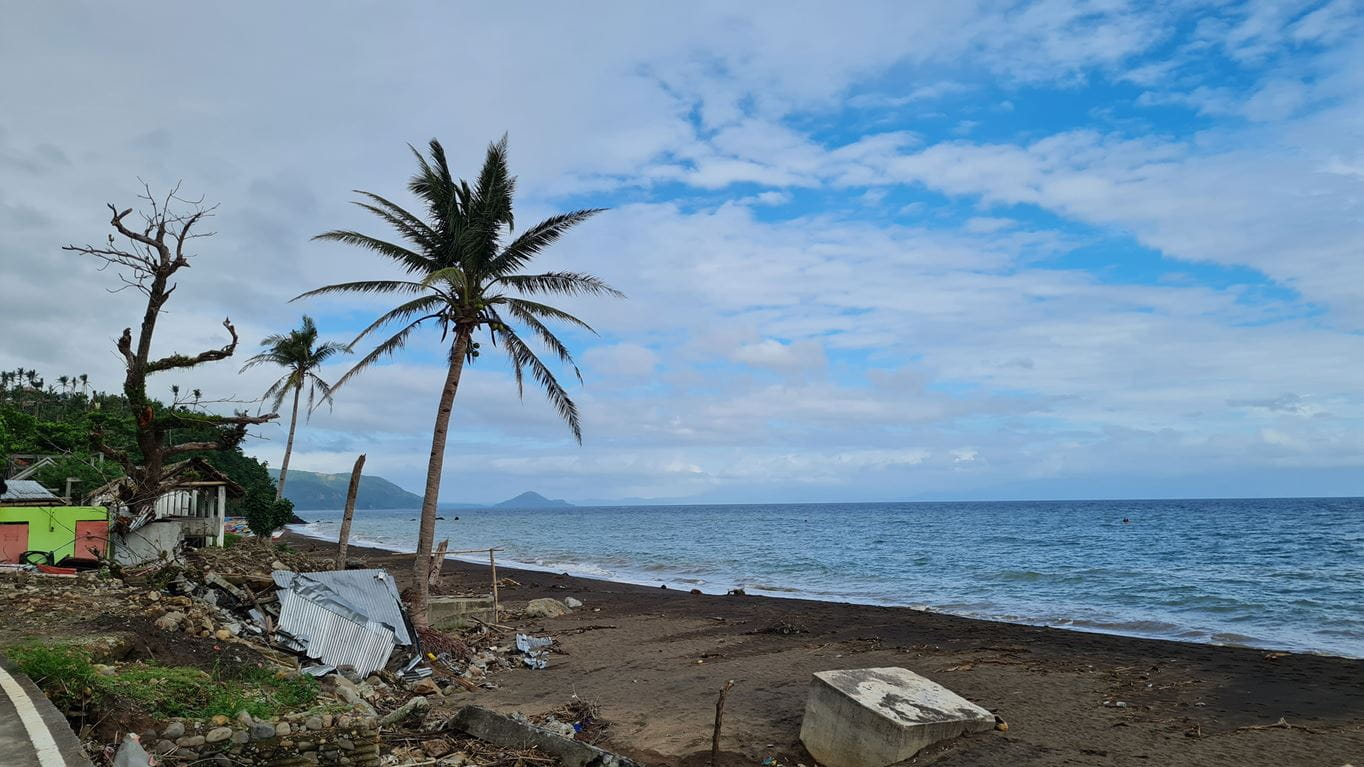 Tiwi Albay in the Philippines after Typhoon Goni