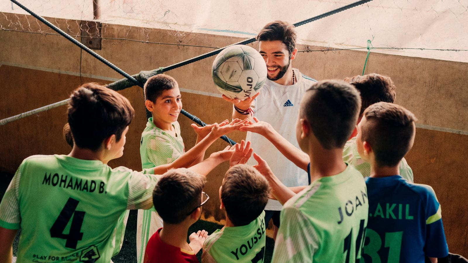 Play for Peace gives young refugees, like Saif, a place to belong. Credit: Ruth Towell/Tearfund