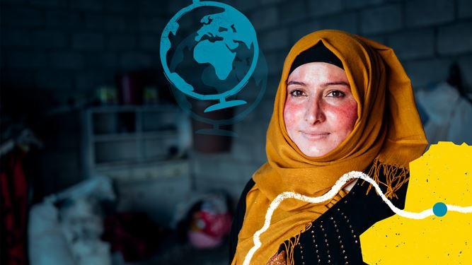 Iraqi lady smiling
