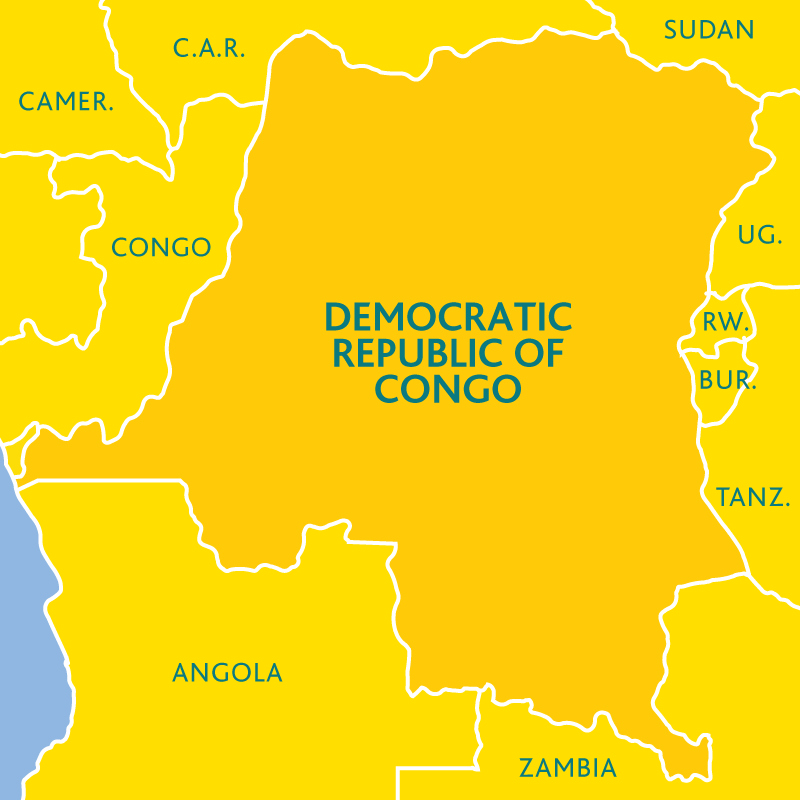 Map of the DRC
