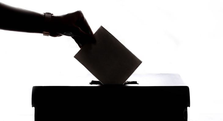 Voting in a ballot box (Pexels)